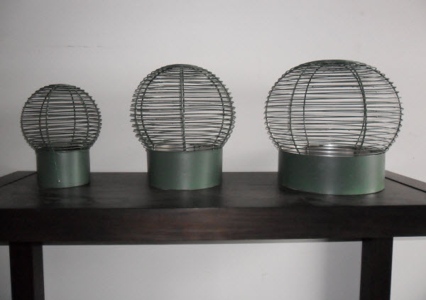 Varying sizes of wire educt cowls