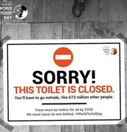 SVSR Supporting World Toilet Day