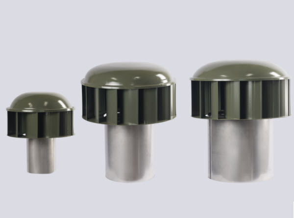 Rotating educt vent cowls (active)