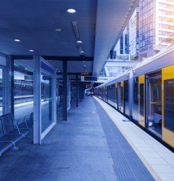 A clean train station