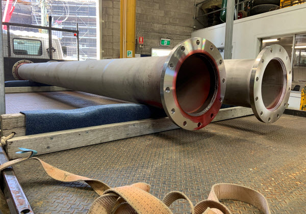 Stainless vent shafts in the warehouse