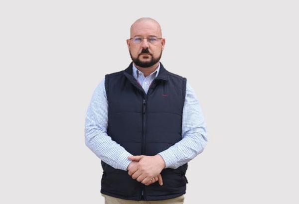 Bald man wearing eye glasses